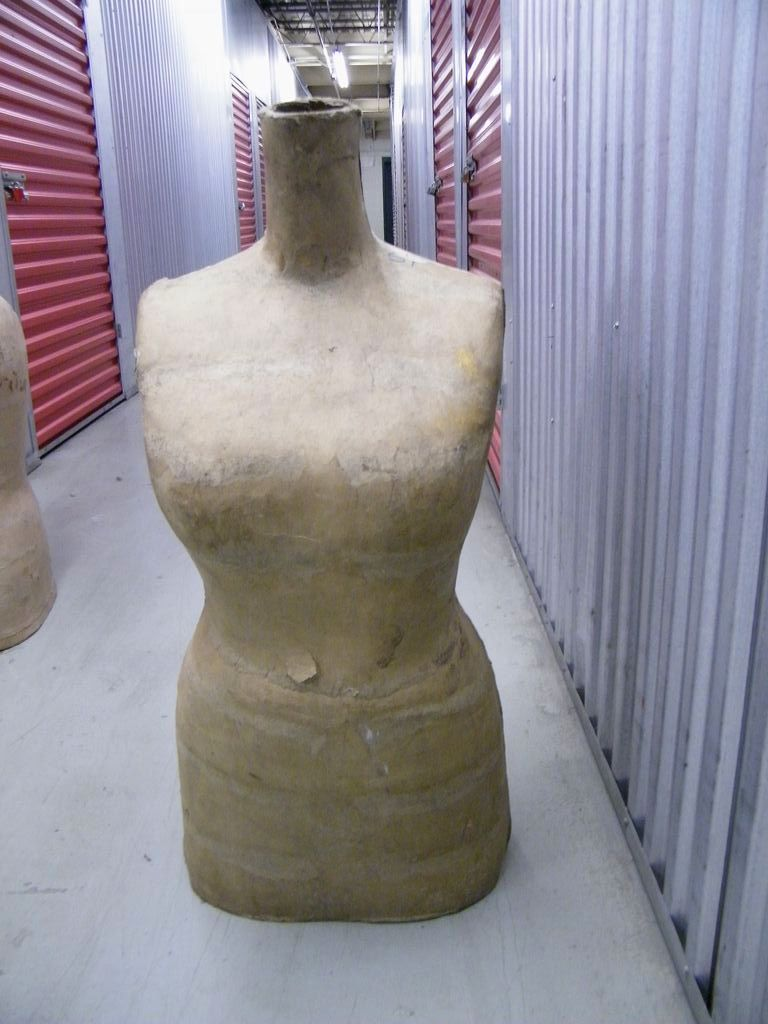 Vintage Large Mannequin Torso Of A Woman Display Form