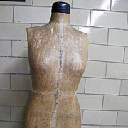 Full Size Paper Mache Dress Form..Fitting Form..Mannequin..J Gottswald
