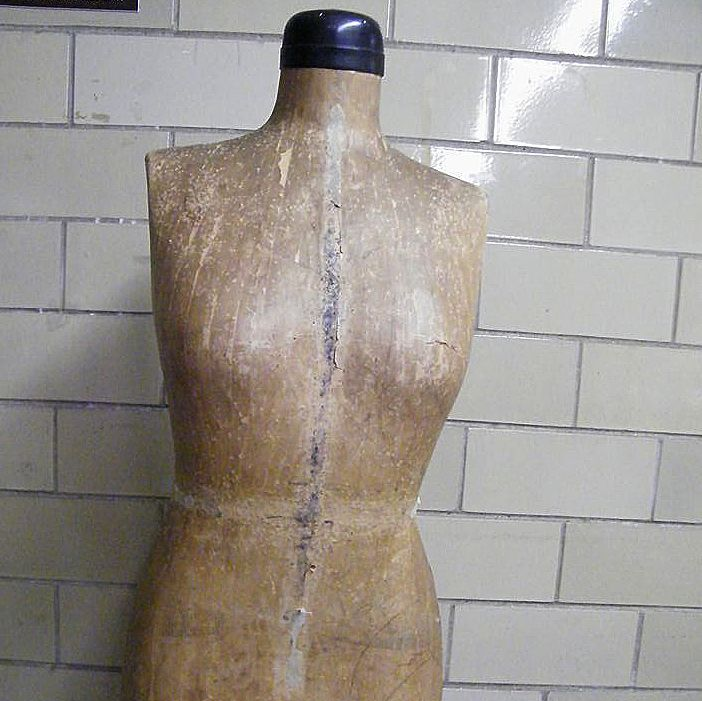 Full Size Paper Mache Dress Form..Fitting Form..Mannequin..J ...