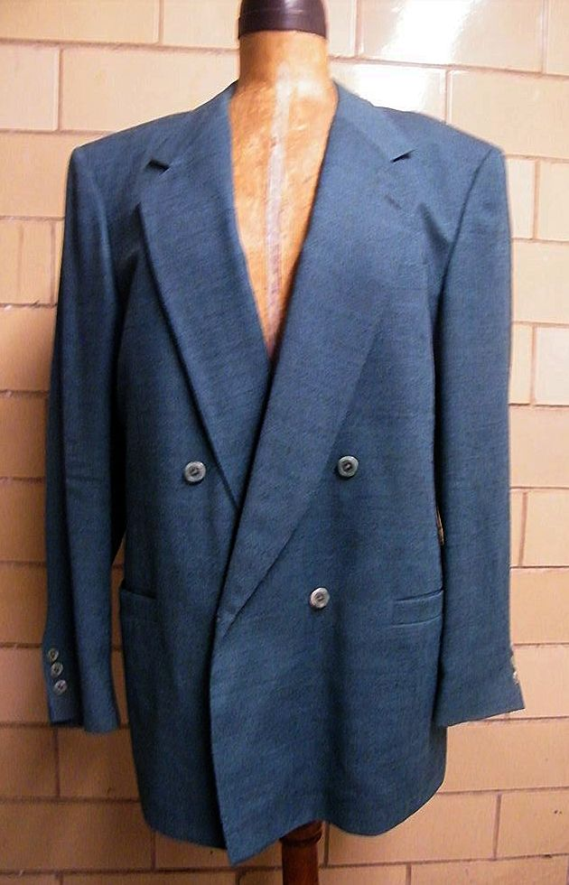 JHANE BARNES Men's Wool Jacket In Teal..Neiman Marcus Label..Size 42L..  Excellent Condition