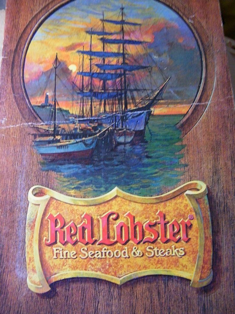 Vintage RED LOBSTER Menu...Dinner Menu...1978