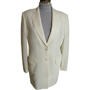 "Men's Formal Off-White Sports Jacket..Light Weight Wool..Twill / Crepe Weave..LA CORDEE..Italy..Size 46"" Excellent Condition"