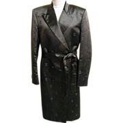 Men's Long Formal Damask Satin Tuxedo Coat With Self Belt..Size 42X..G&G Men's Clothier