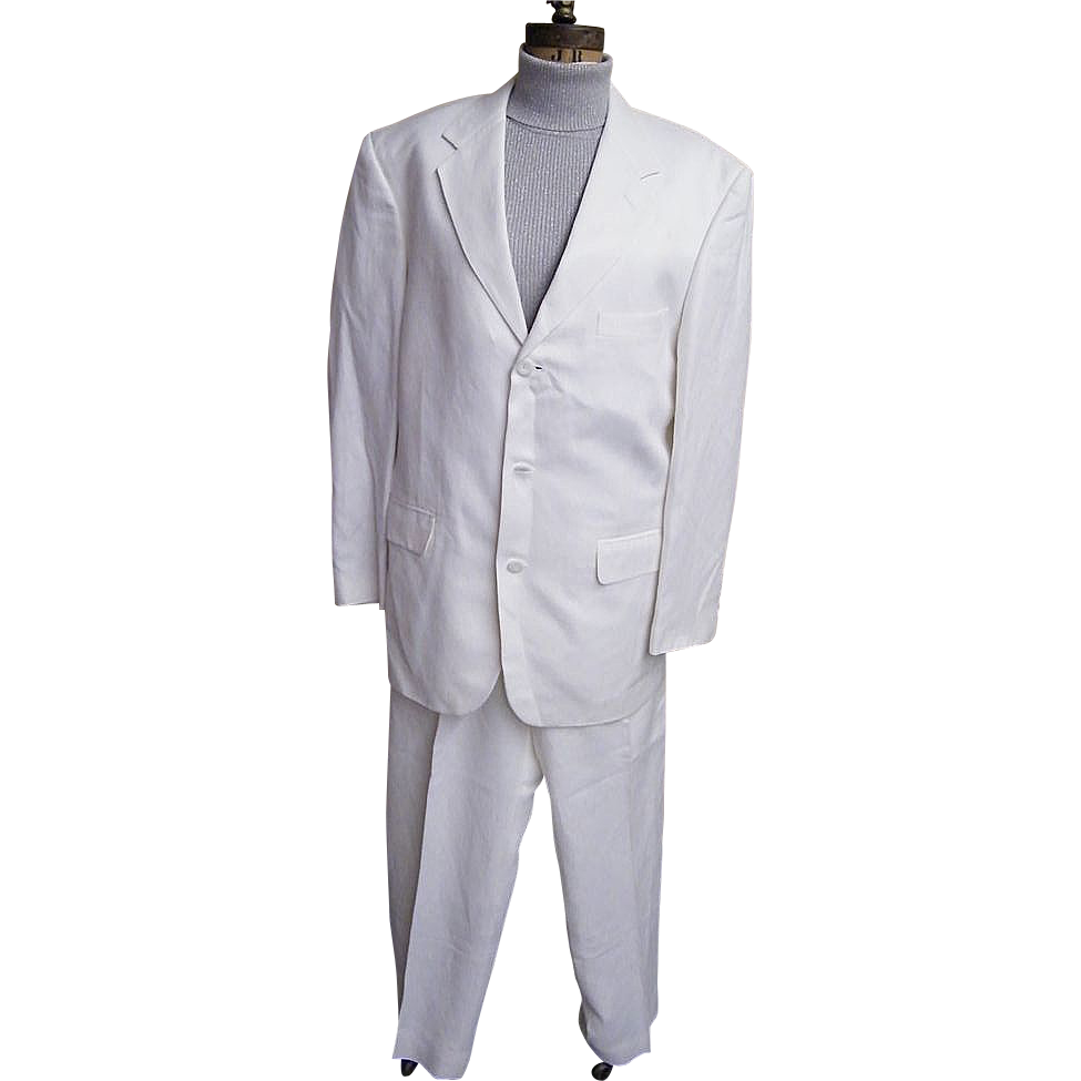 Men's White Moygashel Linen Suit..Philippines..