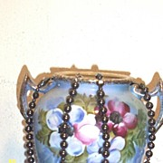 Hand Knotted Hematite Necklace With Oval Accent Beads