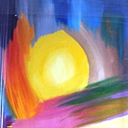Abstract  Acrylic Painting Called New Horizon