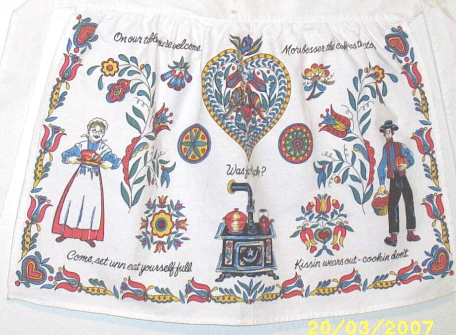 Item ID: PENNA DUTCH APRON -2130 In Shop Backroom