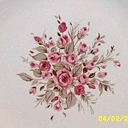 Pink Rose Cluster Dinner Plate By Canonsburg Pottery