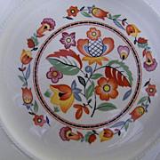 "Vintage Crooksville Hungarian Floral Pattern...8 10"" Dinner Plates & 7 Soup Bowls..Set.."