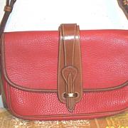 Designer...Dooney Bourke...Red Leather Shoulder Strap..