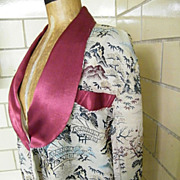Vintage Silk Brocade Shawl Collar Robe..Best Quality..Japan