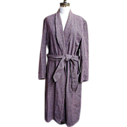 Dressing..Smoking..Lounging Robe..Shawl Collar..Wool Check..Bloomingdale's Men's Store