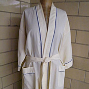 Men's Cotton Cord Robe By Van Heusen..Pale Yellow..One Size