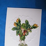 Saint Patrick's Day Vintage Collage Greeting Card..Boy With Top Hat Reading A Book..Mint