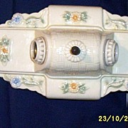 Vintage Porcelier Double Light Ceiling Or Wall Sconce...Floral Accent