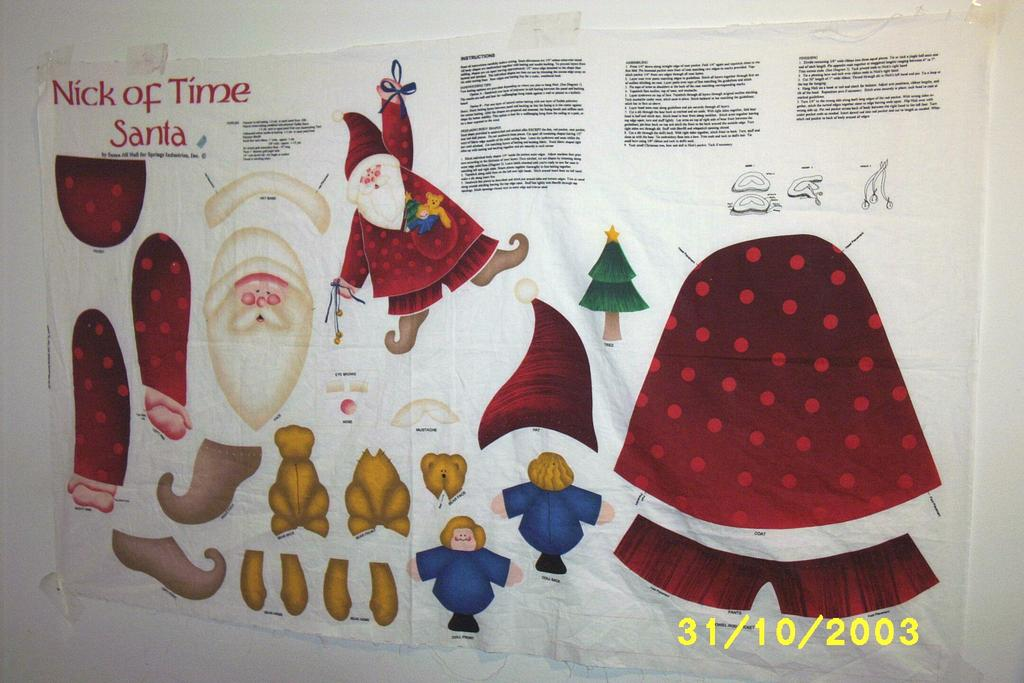 Santa Cut, Stuff And Sew Kit By Susan Jill Hall For Springs Industries