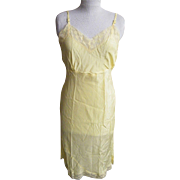 1940's Rayon Full Slip.. Bright Yellow..Size 36..Dead Stock