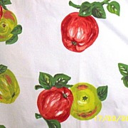 Red Apples And Green Apples Cotton Canvas Printed Tablecloth