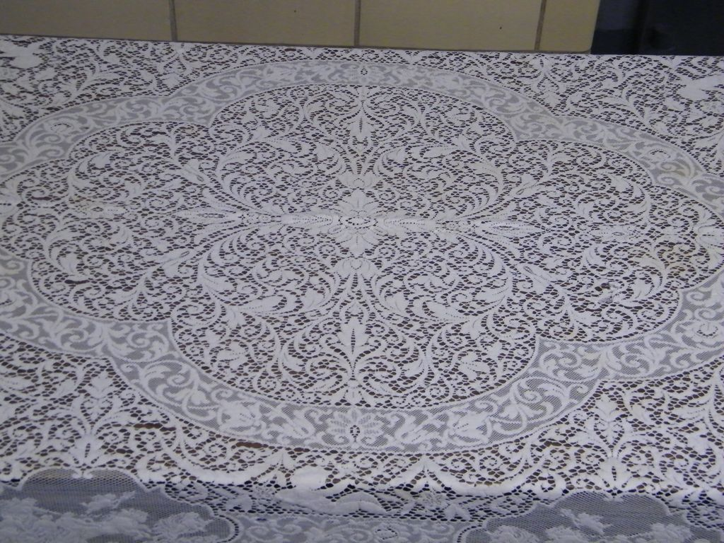Roll Over Large Image To Magnify, Click Large Image To Zoom. Expand  Description. Bright White Lace Tablecloth ...