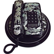 MOP Inlaid Decorative Telephone From Korea...Phone..Base..Swivel Stand