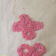 Vintage..Child's Chenille Flower Muslin Bed Sheet...Gently Used