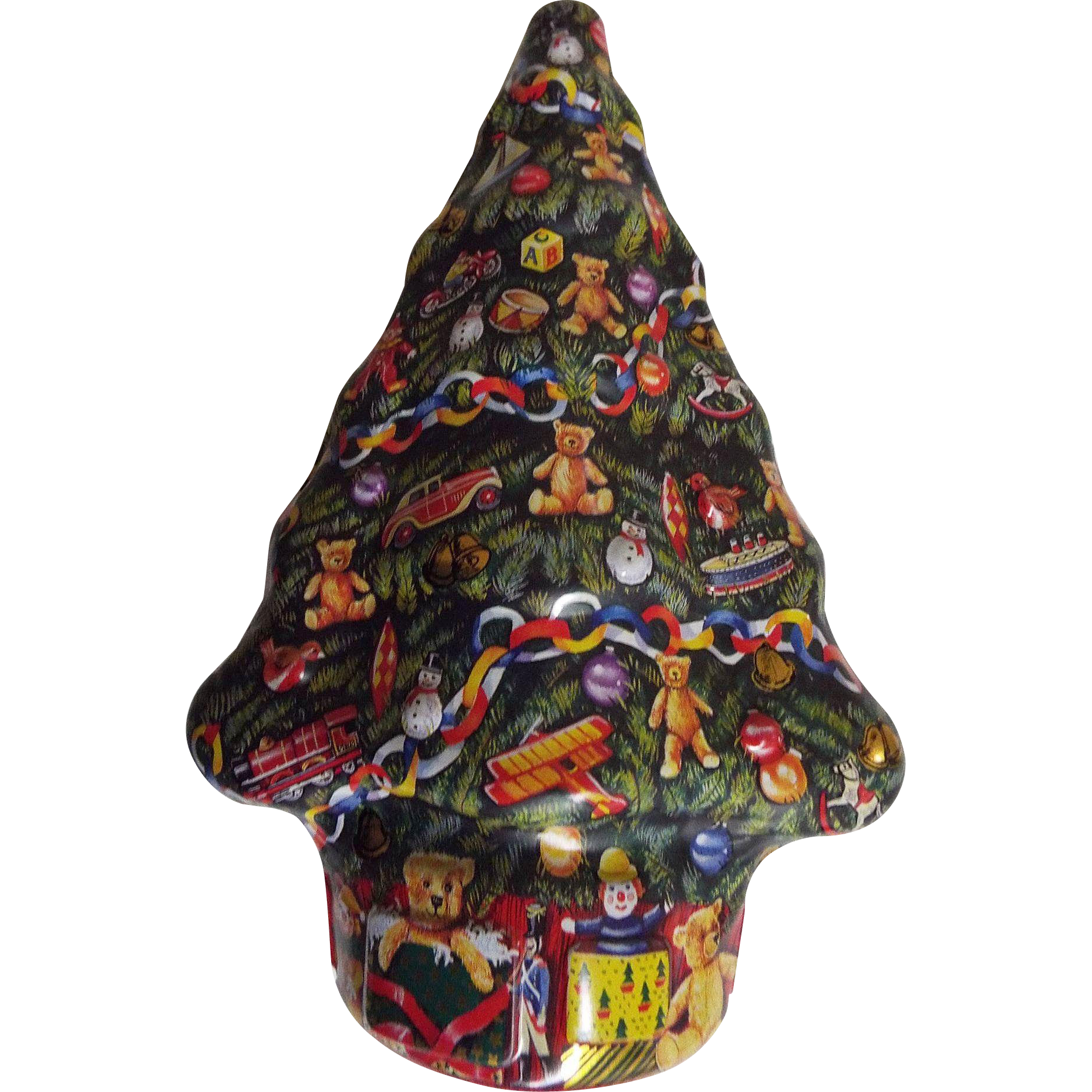 Embossed Christmas Tree Candy Tins..Made In England ...