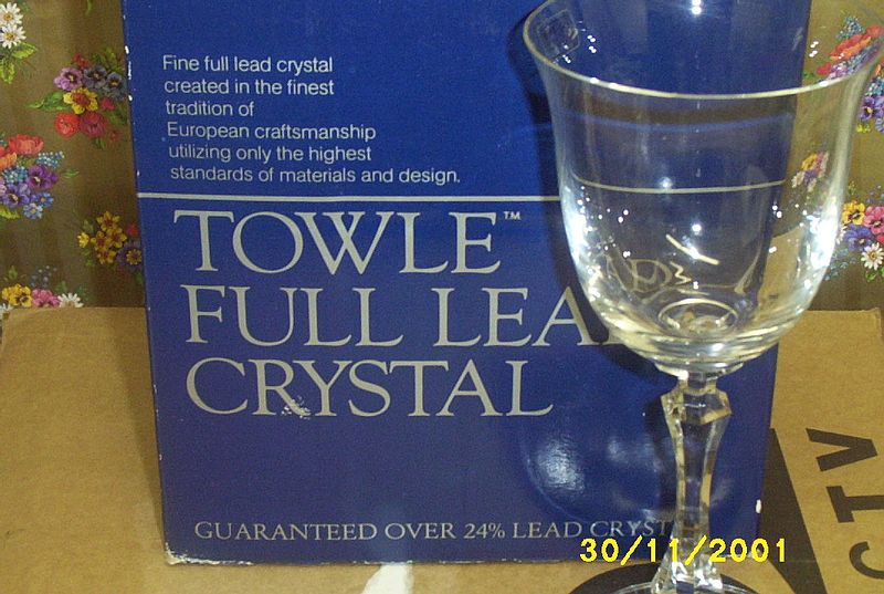 HOLD FOR LYNN...Towle Kirkland Lead Crystal Stemware ---Three Sizes ---12 Piece Set
