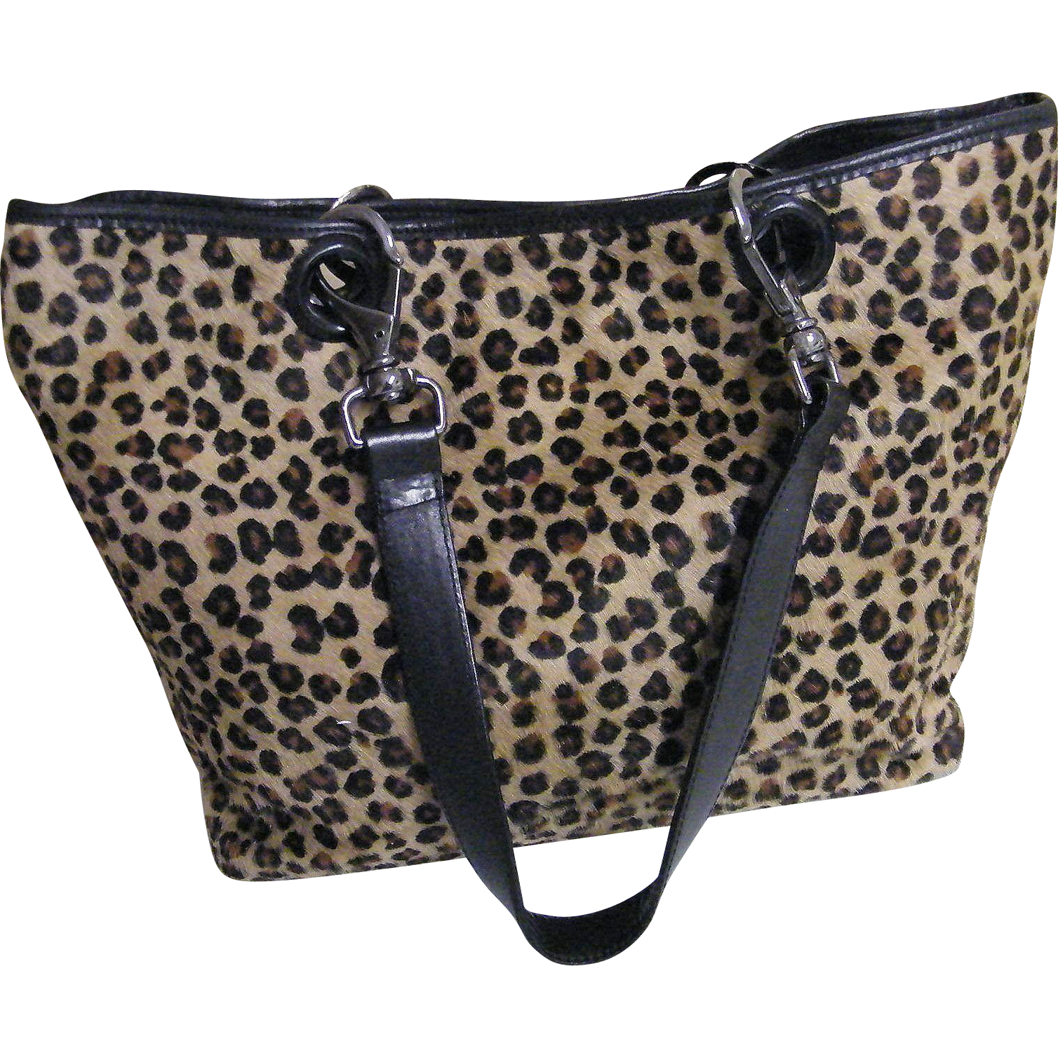 Faux Leopard Tote Bag By Paola Del Lungo
