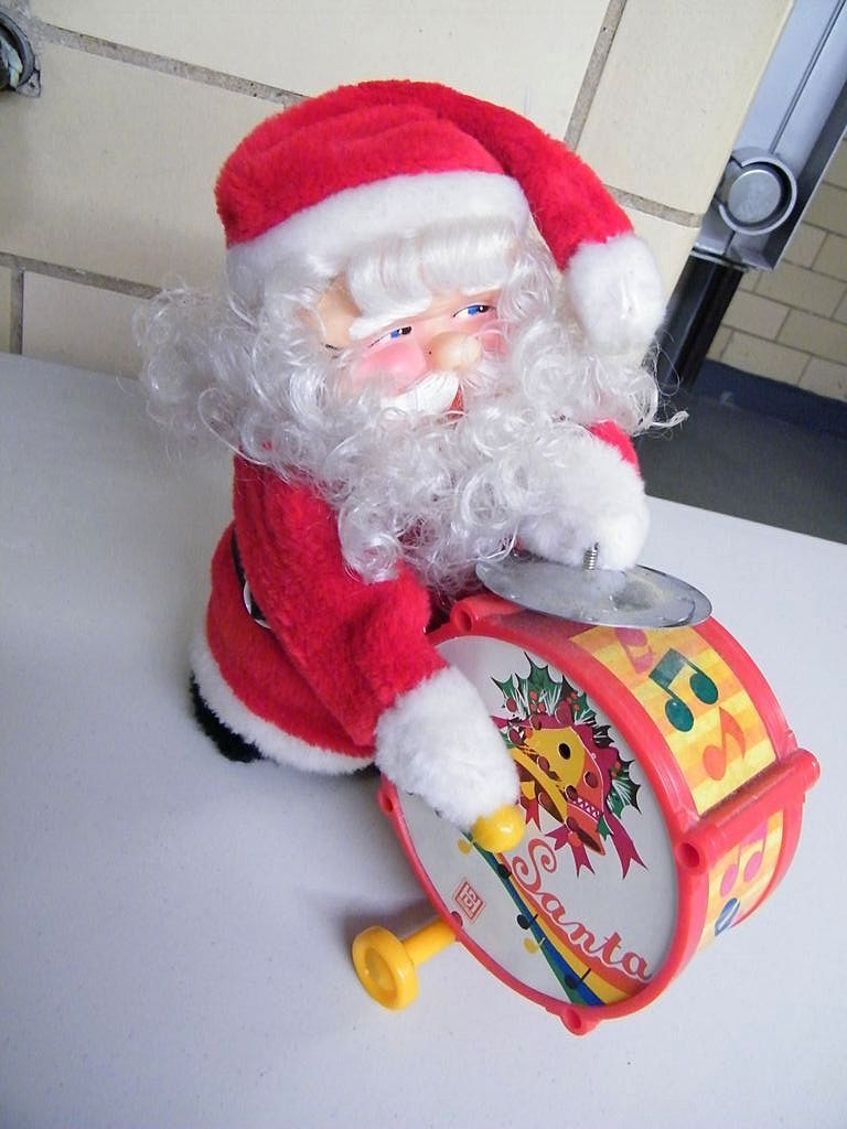 Toys From Santa : Vintage happy santa toy nib made in taiwan from