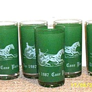 Tumblers   1987 Cane Pace  Triple Crown Winners Yonkers Raceway...4 Available
