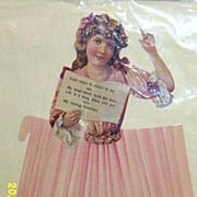 Large Valentine Singer Greeting Card Die Cut And Embossed With Wraparound Skirt