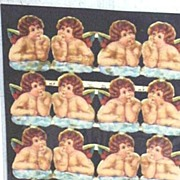 Sheet..Victorian Paper Cherubs...Never Used...MP England # 858..16 Cherubs..Die-Cut