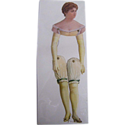 Victorian Paper Puppet...Show Girl ..New Condition