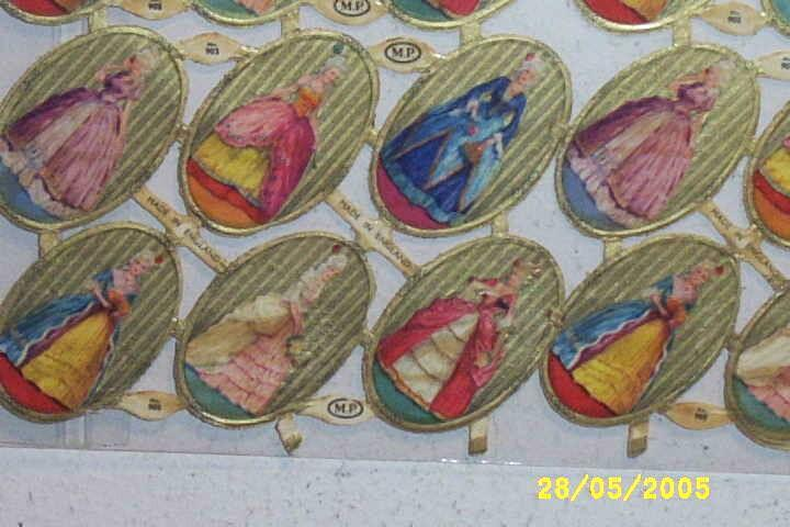 Vintage Dye-Cut Scraps Assorted Victorian Ladies M.P. England...Full Sheet