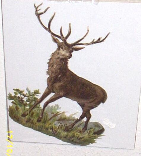 Large Embossed Die-Cut  Victorian Paper STAG...New Condition...Hard To Find