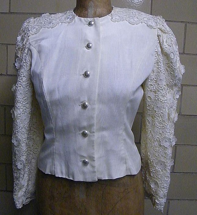 DREAM... Lace & Moire Wedding Suit By Victor Costa..Size 10..Excellent Condition!