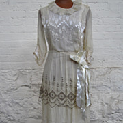 Early 20Th Century Silk Dress....