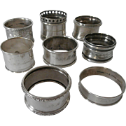 .Early 20th Century Silver Napkin Rings...