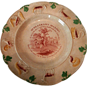 Staffordshire Dr. Franklin's Maxims Plate....
