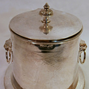 English Silverplate Biscuit Jar...