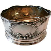 800 Silver Wine Coaster/ Early 20th Century...