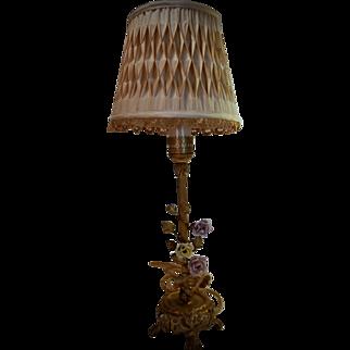 Brass Boudoir Lamp...
