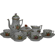 Herend Coffee Set /Hand Painted / Circa: 1930's....