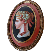 Late 19th Century Porcelain Medallion...