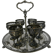 Late 19th Century Silverplate Liqueur Set.....
