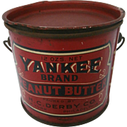 Yankee Peanut Butter Pail / Late 19th Century....