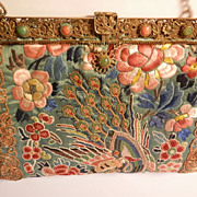 Oriental Silk Embroidered Purse...