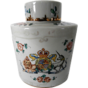 China Tea Caddy..(.Made in France)...