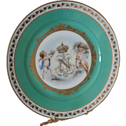 19th Century Chateau des Tuileries plate....