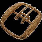 Early 20th Century 14k Gold Belt Buckle...